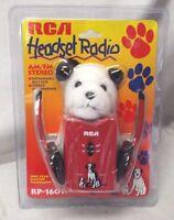 Vintage 1990s Rca Am/fm Stereo Headset Radio W/ Chipper Nipper Plush Toy
