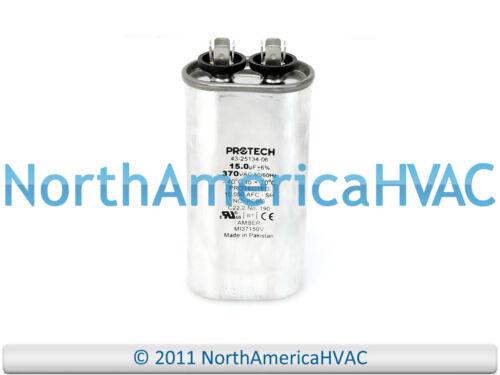OEM Rheem Ruud Protech Oval Run Capacitor 15 uf 370 VAC 43-100496-41 43-20847-16