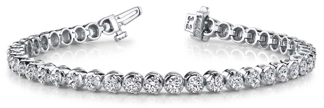 13.52 carat Round Diamond Platinum Tennis Bracelet 29 x0.46 ct G SI1