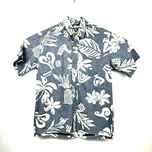 Kalaheo-Hawaiian-Tropical-Button-Up-Short-Sleeve-Shirt-Mens-Size-Medium