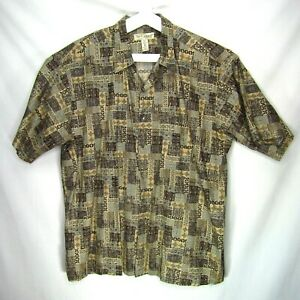 Vintage-Tori-Richard-Mens-Hawaiian-Shirt-Aloha-Camp-Cotton-Lawn-Size-2XL-Block