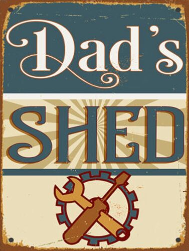 Retro replica style metal tin sign gift Pub Shed Man Cave Dad/'s Shed