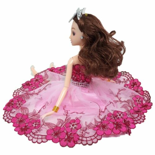 Pink Flower Leaves Crystal Dancing Costume Fashion Clothes For 1//6 Doll Dress