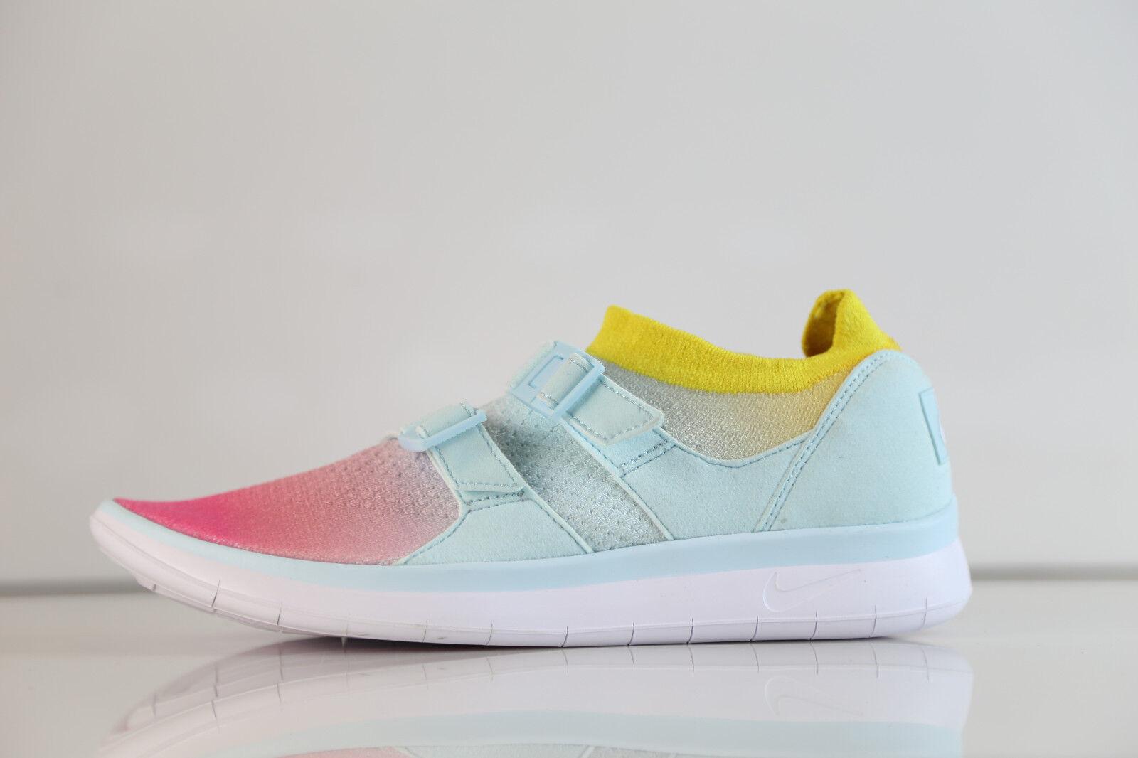 Nike Femme Air sockracer Flyknit BLANC BLEU GLACIER ROSE 896447-100 6-10 Sock