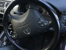 Mercedes E Class E320 Black Leather Steering Wheel Complete As Shown 1999-2002/3