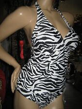 NWT~CATALINA~2 Piece~Sexy Zebra Animal Print~~Summer Ready~Swimsuit~Size~M~8/10