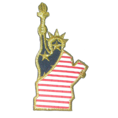 "Iron On Patch Applique Patriotic Statue of Liberty 4 3//4/"" high"