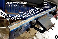 Jeep Wrangler YJ-TJ-CJ7  ++Highly Polished++ Diamond Plate Upper Tailgate Cover