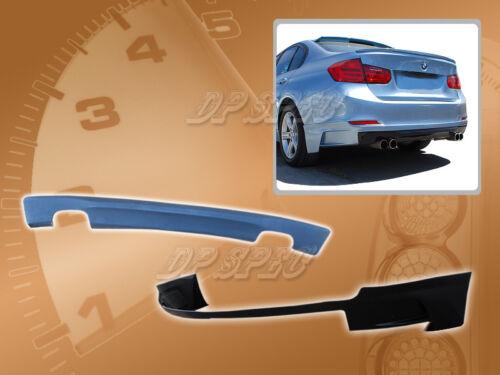FOR 12-14 BMW F30 320i 328i 335i 3 SERIES T-X REAR BUMPER LIP KIT SPOILER PU