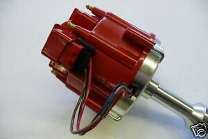 SBF-351W-Ford-HEI-Distributor-Red-Cap-50K-Coil-7000-RPM-Windsor-Ignition