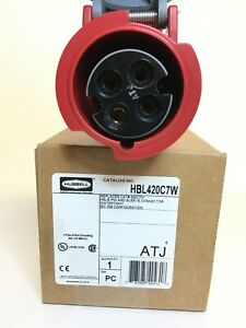 Details zu HUBBELL WIRING DEVICE-KELLEMS HBL420C7W IEC Pin and Sleeve on