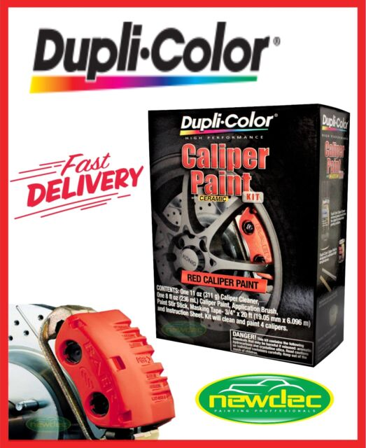 Duplicolor Red Brake Caliper Kit Bcp400 High Heat Paint Restoration