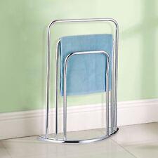 c84b32191557 Curved Towel Holder Stand Three Tier Free Standing Bathroom Rail 3 Bar