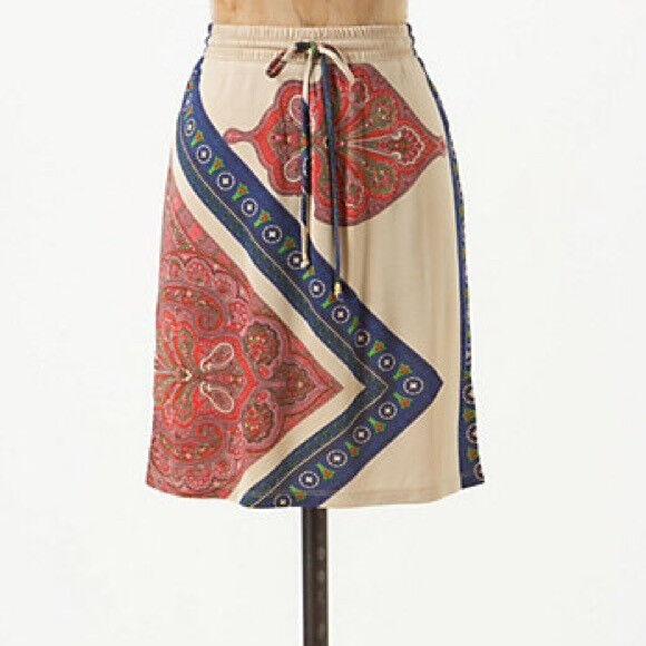 NWT Anthropologie Leaf & Arrow Skirt Leifnotes NEW XS 2