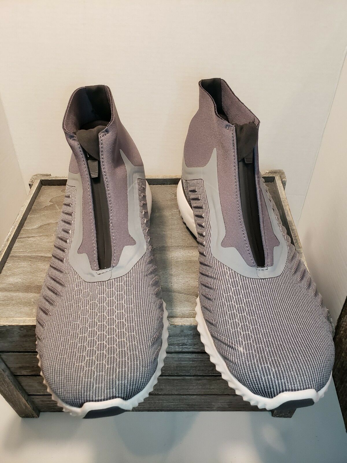 Adidas Alphabounce Zip BW1385 Continental Mens Running Athletic shoes Grey SZ 11
