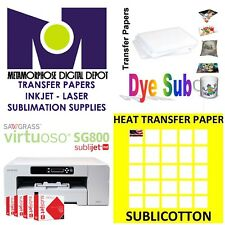 Sawgrass Virtuoso Sublimation Ink Cartridge SG400//SG800 Yellow+100 Sh SUBLIPAPER