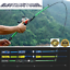Carbon Fiber Lure Fishing Rod Hand Pole Spinning Casting Ultralight Rod New ES
