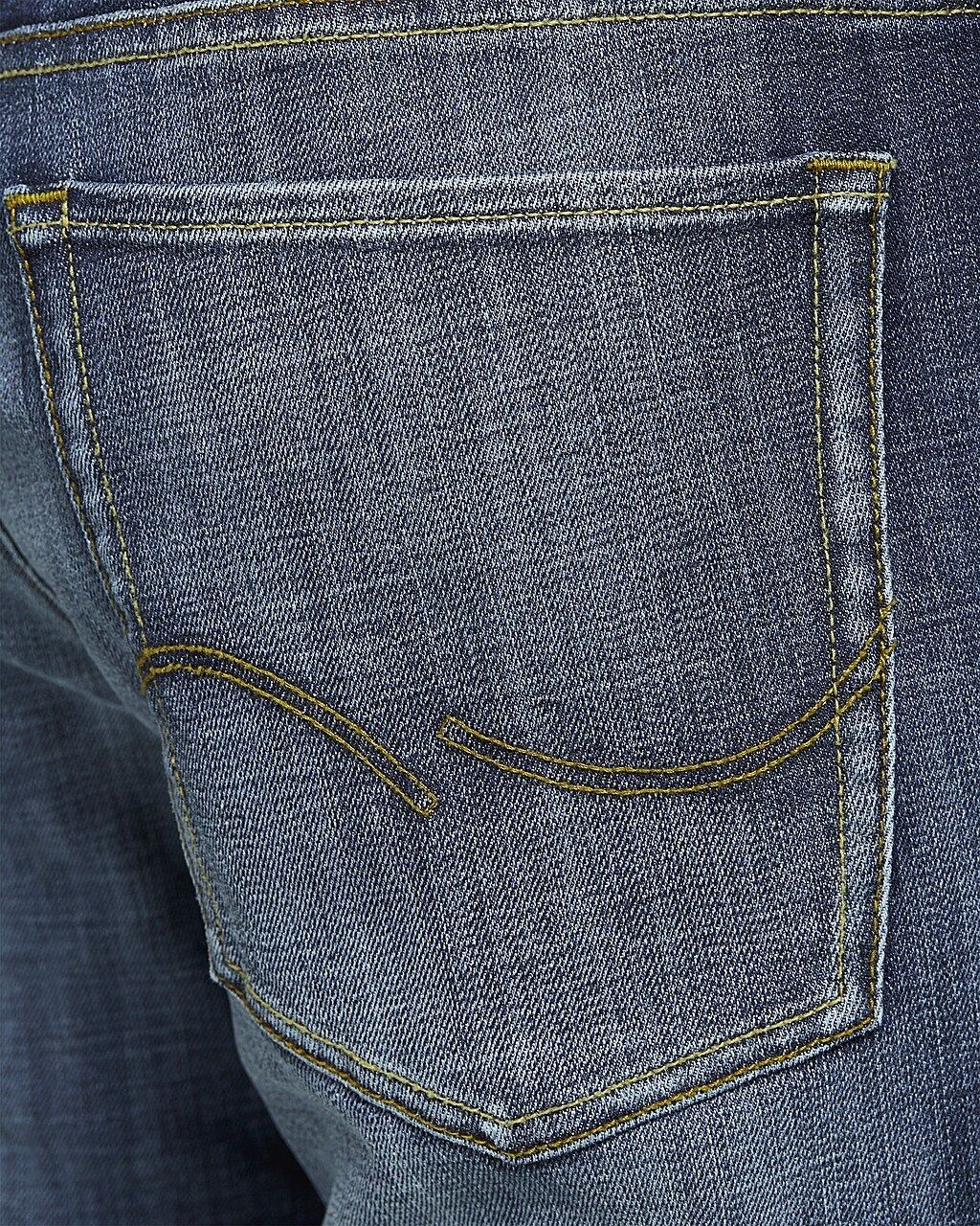 JACK & JONES Jeans da Uomo Clark Clark Clark Regular Fit Straight pantaloni denim blu GE255 risciacquati 668bcd