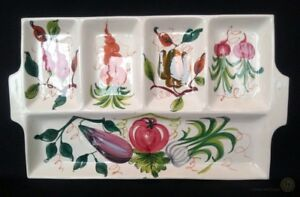 VTG-Large-Italian-Pottery-Antipasti-Tray-Hand-Painted-48cm-FREE-Delivery-UK