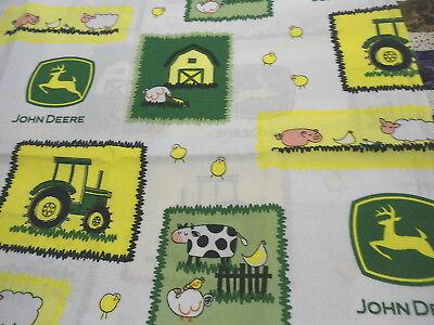 Fabric John Deer Barn Yard Nursery on Blue Cotton by the 1//4 yard BIN