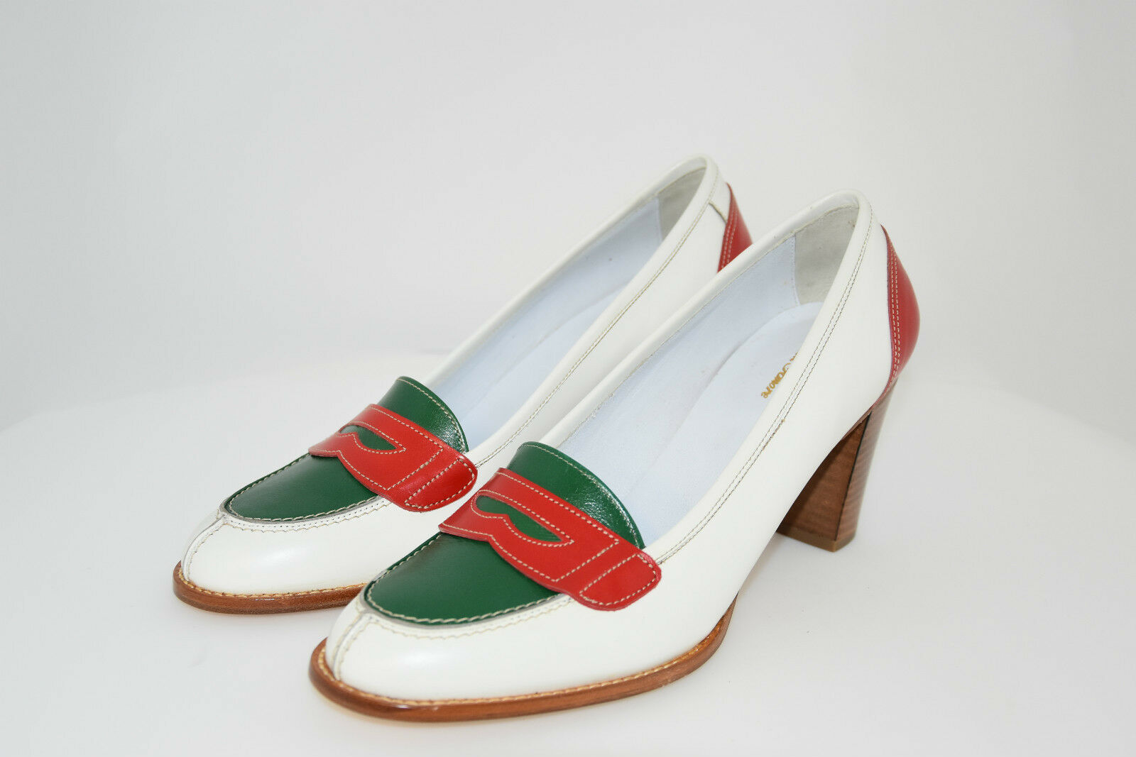 WOMAN-39eu-LOAFER-MOCASSINO-CALF-VITELLO TRICOLORE-LEATHER TRICOLORE-LEATHER TRICOLORE-LEATHER SOLE- SUOLA CUOIO 18dc81