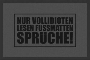Rockbites-Doormat-034-only-Vollidioten-Reading-034-Grey-Nr-158-100761-Doormat