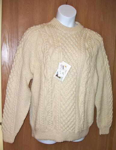 Aldrig Mens Båret Med Fisherman uld Lg 100 Sweater Blarney Ladies Mills PzZcqp