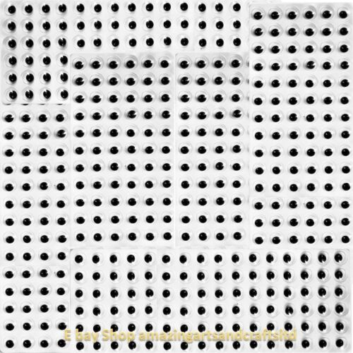 Wiggle Wiggly Googly Eyes 10mm Black Self Adhesive 576 Crafts Craft Sticky