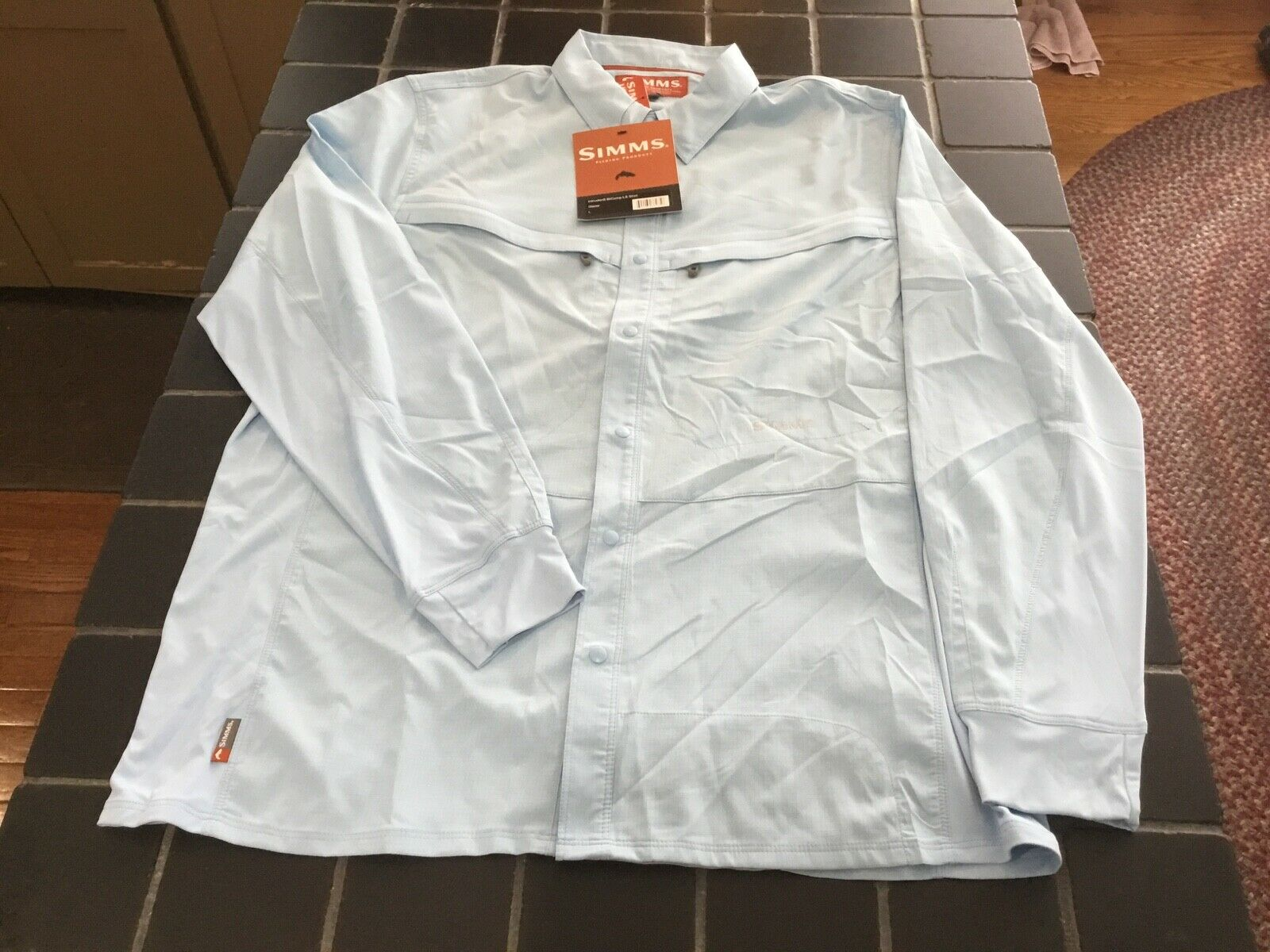 NWT Simms Fishing Intruder BiComp LS Shirt, Size  L, Glacier color Fishing Shirt  welcome to choose