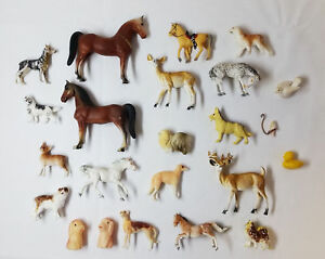 collection-of-23-small-plastic-animals-1960-039-s-1970-039-s