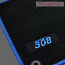 Velours Edition Fußmatten für Peugeot 308 + 308 SW ab Bj.09/2007 - 2014 blau