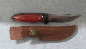 Elk Ridge Fixed Full Tang 440 Wood Hunting Survival Knife & Sheath EDC Brand New