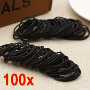 100-Thick-Hair-Ties-Elastics-Ponytail-Holders-Elastic-Bands-Bulk-Lot-Wholesale