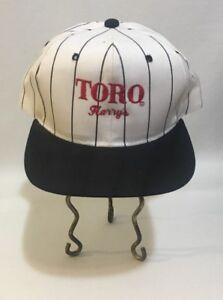 Toro-Lawn-Care-Adjustable-White-Pinstripe-Hat-Cap-Harry-039-s-Vancouver-Washington