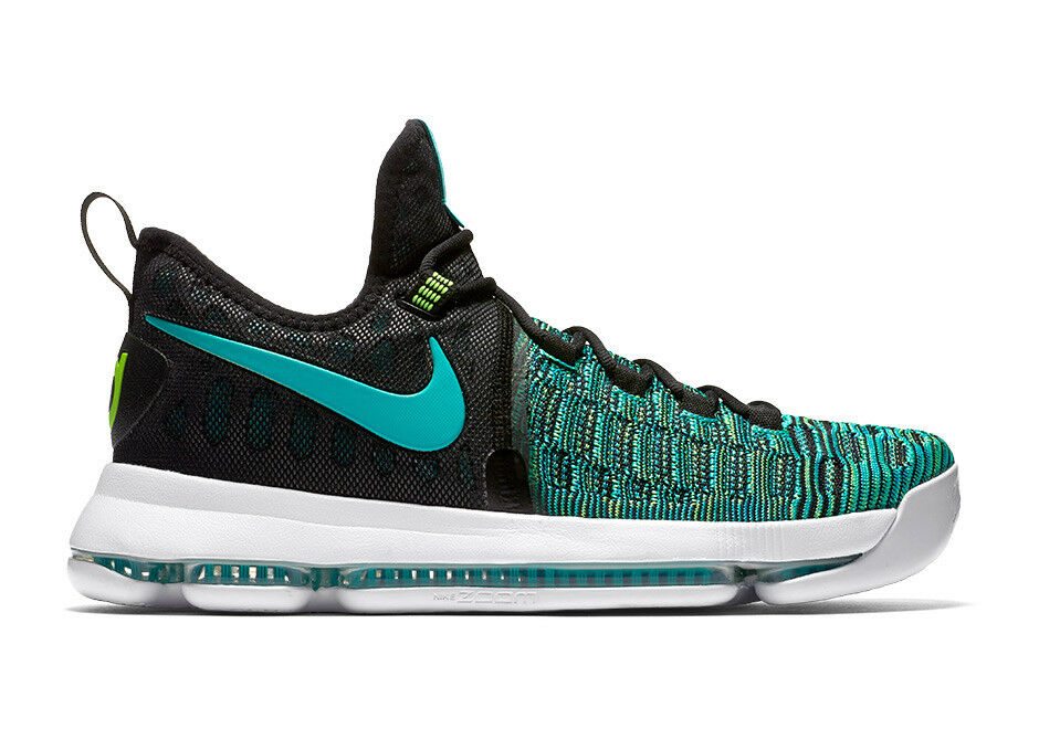 MENS NIKE ZOOM KD 9 BASKETBALL SHOES SHOES SHOES SIZE 11 CLEAR JADE GREEN BLACK 843392 300 cb246a