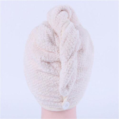 Magic Hair Drying Towel Hat Cap Microfibre Quick Dry For Lady Bath Shower Cap 1X