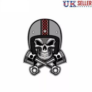 Cafe-Racer-Skull-Pistons-Vinyl-Sticker-Crossbones-Car-Motorbike-Helmet-Cycle-UK