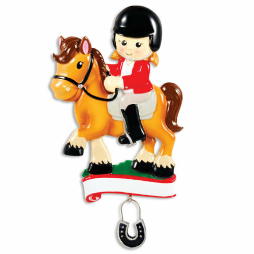 Horse Equestrian Personalized Christmas Ornament