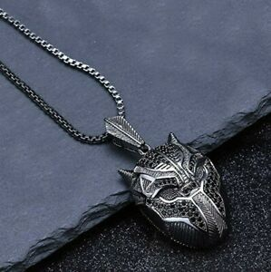 Black-Panther-Inspired-Pendant-Necklace-with-Box-Chain-20-034-18K-Black-Gold-Fill