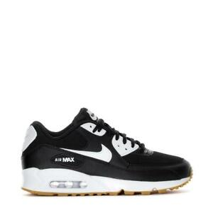 Details about Womens NIKE AIR MAX 90 Black Trainers 325213 055