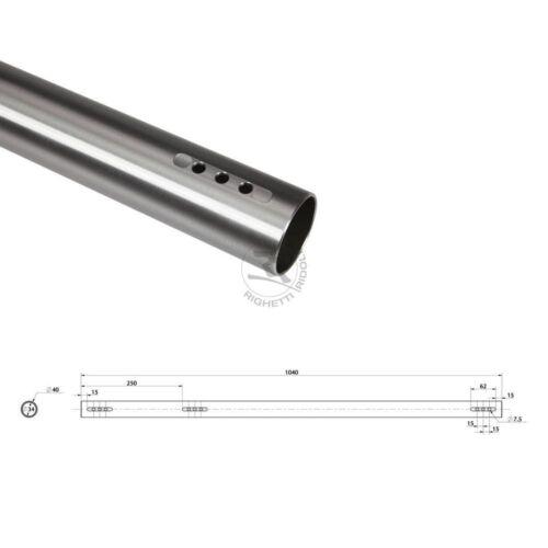 B Hinterachse DD2 medium Stärke 3mm 40x1040mm Stahl