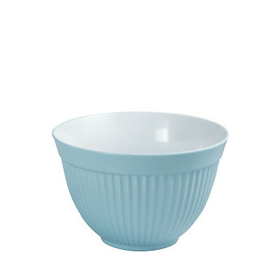 NEW Avanti Melamine Ribbed Mixing Bowl, 18cm/1.4L - Duck Egg Blue