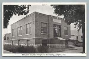 Steuben-County-Telephone-Co-ANGOLA-Indiana-Rare-Antique-Auburn-Postcard-1930s
