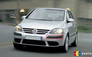 Nuevo-GENUINO-VW-Golf-Plus-05-09-Parachoques-Delantero-Cubierta-Negra-Con-Agujero-Lavadora-izquierda