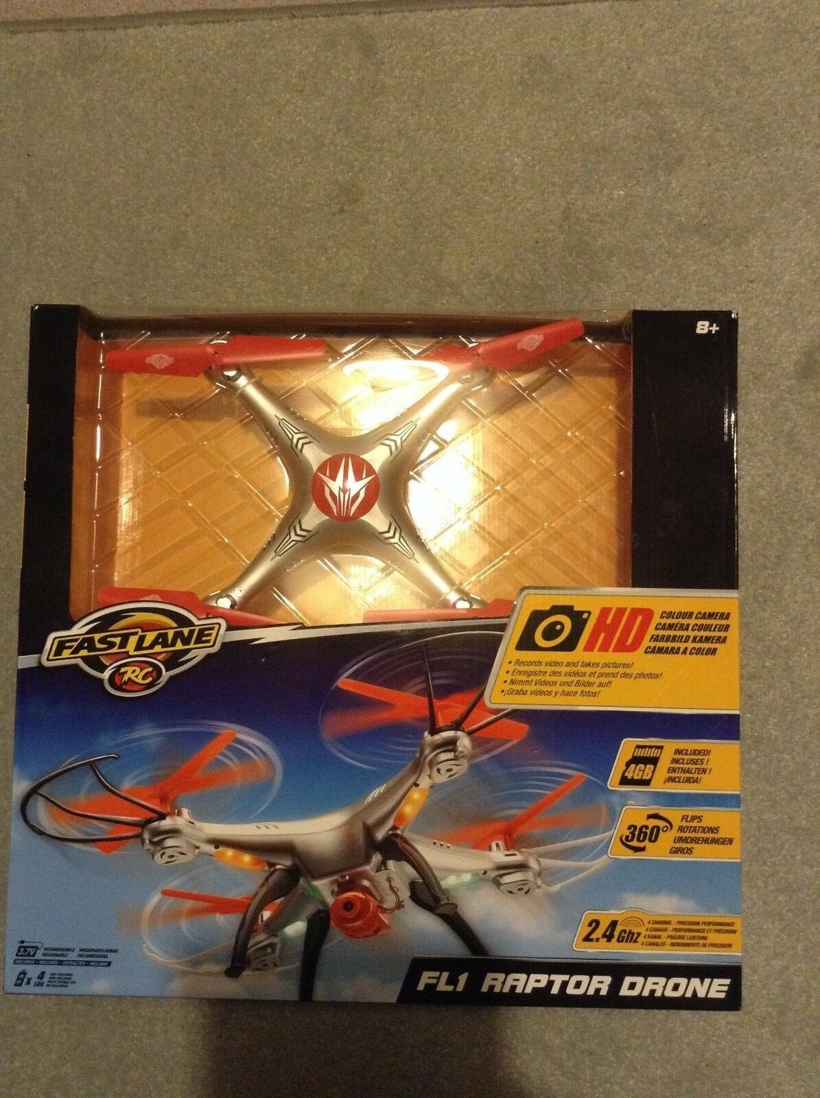 Fast Lane FL1 Raptor RC Drone  new  boxed