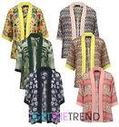 Vintage Floral Loose Shawl Kimono Boho Chiffon Cardigan Coat Jacket Cover Up