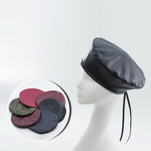 Fashion Lady Women s Leather Beret Hat Newsboy Cabbie Caps Painter ... 7957350ffda3