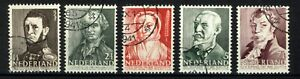 Nederland-NVPH-392-96-Zomerzegels-1941-Cat-w-2-00-euro-Gebruikt