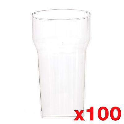 10 Ounce / 1/2 Pint Plastic Reusable Glasses Cups CE Marked Tumbler x 100