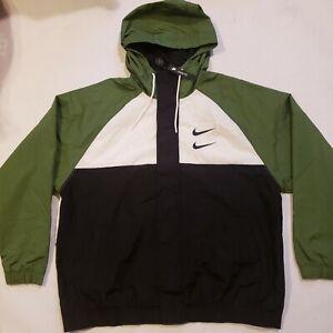 NWT-Nike-Double-Swoosh-Hooded-Windbreaker-Track-Jacket-Size-Men-039-s-XL-CJ4888-010
